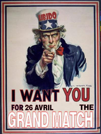 Oncle Sam want you for the Grand Match
