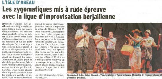 Article DAUPHINÉE LIBÉRÉ 30/11/15